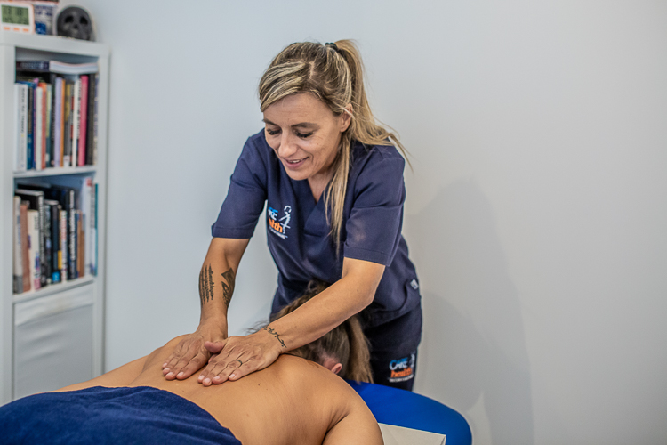Amanda Villegas Sanchez Osteopath working on a client in Mallorca at Care 4 Health